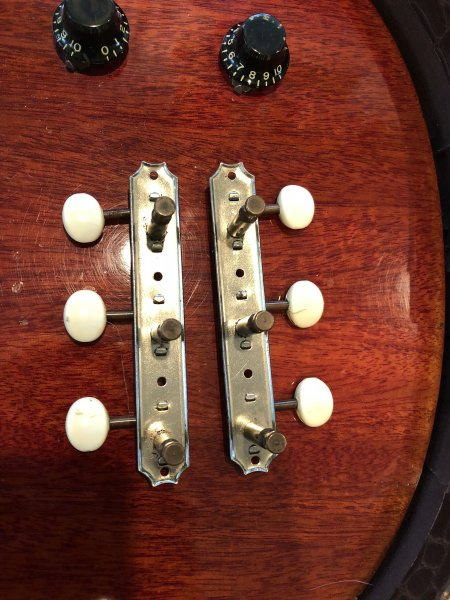 Kluson guitar tuners on a strip talented phrase