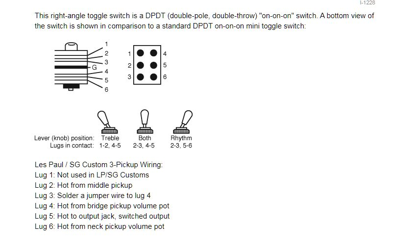 sg wiring diagram toggle need some help with a switchcraft 3 pickup switch please my les  switchcraft 3 pickup switch