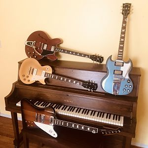 gibson electrics and piano