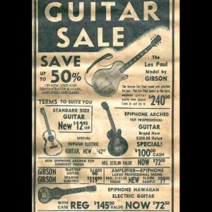Gibson Les Paul  1950s advertisement $240!!!!!