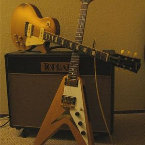 Tophat King Royale and '04 R4, '58 Flying V Replica