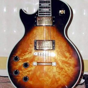 1991 LP Custom with scratchplate removed to show full top.