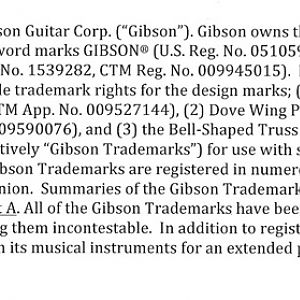 List_of_Gibson_Trademarks