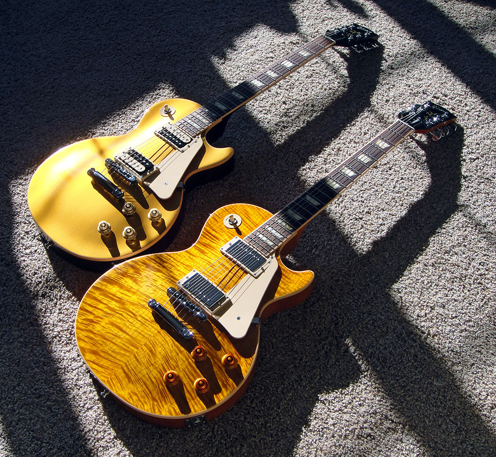 '12 Gibson Les Paul Standard Plus, '10 Gibson Les Paul Traditional Pro
